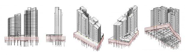 Modelo BIM Sadro residencias 3D